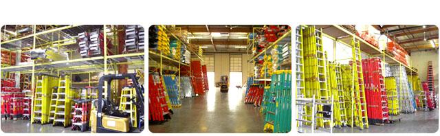 Inside Advanced Ladders Company Building