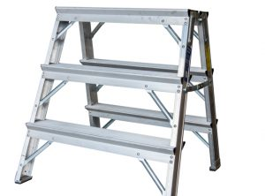 Heavy Duty Aluminum Work Stand with Deep Steps