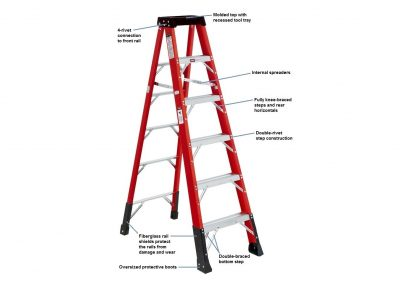 Fiberglass Stepladder – 375 lbs. Duty Rating