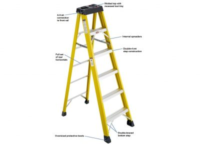 Fiberglass Stepladder – 300 lbs. Duty Rating