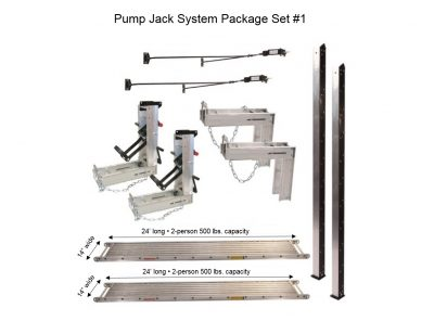Pump Jack System – Package 1 with (2) 14″W x 24'L Planks