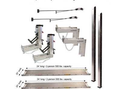 Pump Jack System – Package 2 with (2) 20″W x 24'L Planks