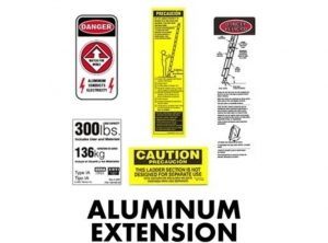 Aluminum Extension Ladder Replacement Labels
