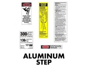Aluminum Stepladder Replacement Labels