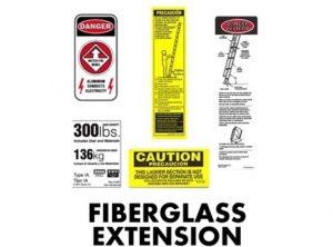 Fiberglass Extension Ladder Replacement Labels