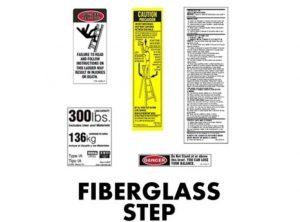Fiberglass Stepladder Replacement Labels