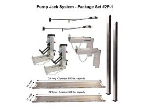 Pump Jack System – Package 2P-1 with (2) 14″W x 24'L Planks