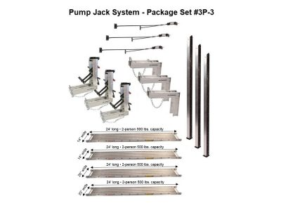 Package 3P-3 with (2) 14″W x 24'L and (2) 20″W x 24'L Planks — for 24'H x 48'L projects